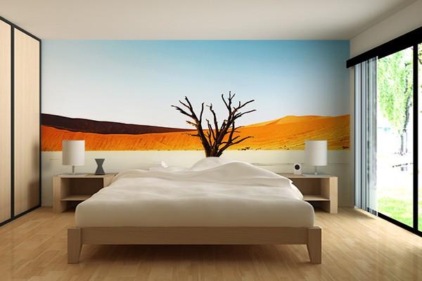 le papier peint en trompe lil idal pour une chambre